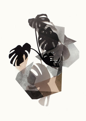 LEAVES no.4 – Monstera brown fra Karina Petersen