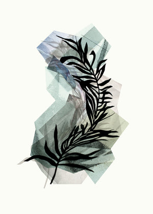 LEAVES no.6 – Palm green fra Karina Petersen