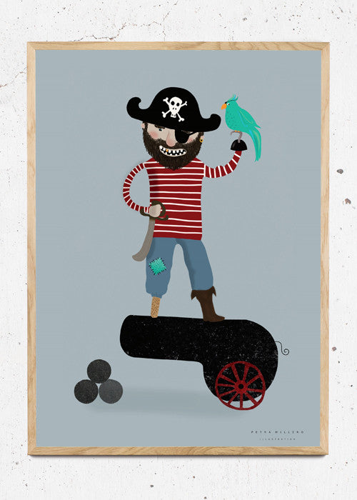 Captain Goldtooth! fra Petra Willero Illustration