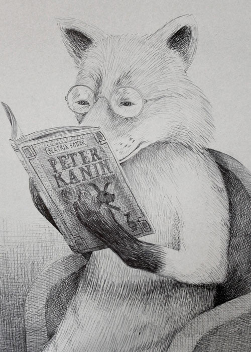 Bedtime Reading Fox fra Morten Løfberg