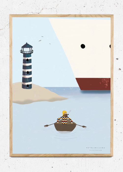 Hey sailor! fra Petra Willero Illustration