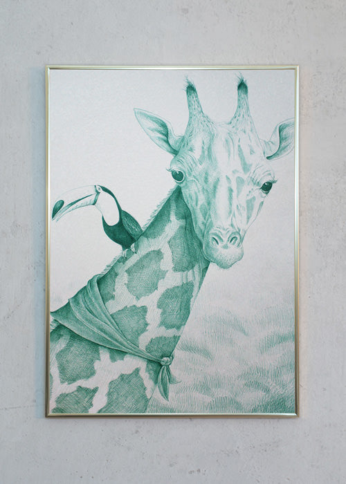 Green Giraffe with Friend fra Morten Løfberg