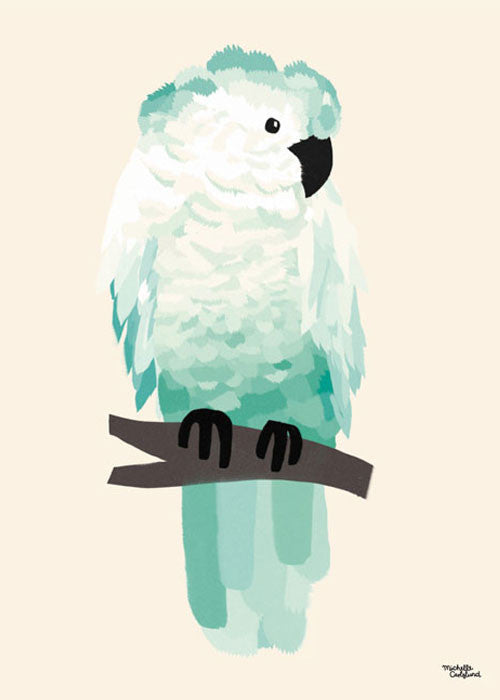 Green Cockatoo fra Michelle Carlslund