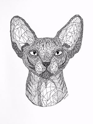 Sphynx fra Holm Illustrations