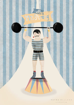 Hello mr.Strong! fra Petra Willero Illustration