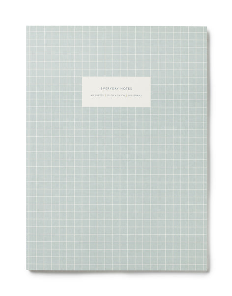 Large notebook, check light blue fra Kartotek Copenhagen