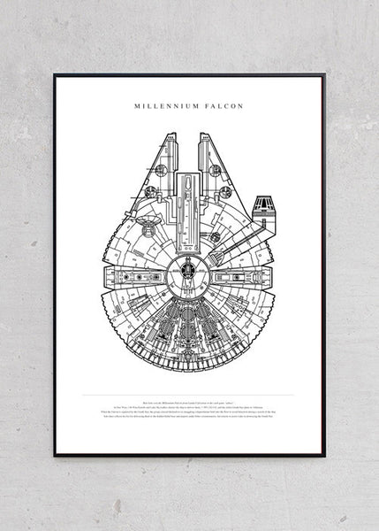 The Millennium Falcon + Sort Metalramme fra Untitled