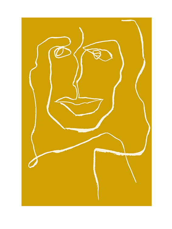One Line Female Yellow Limited Edition fra Mette Handberg