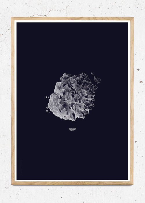 Nature 1:1 Hailstone, Everest Dark Blue fra Paper Collective