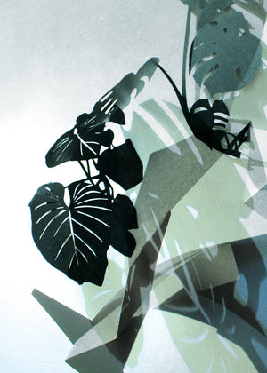 LEAVES no.5 – Philodendron green fra Karina Petersen