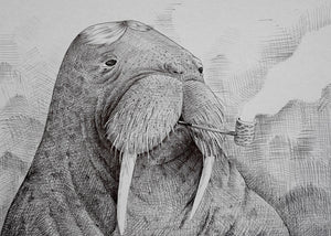 Walrus Smoking Pipe fra Morten Løfberg