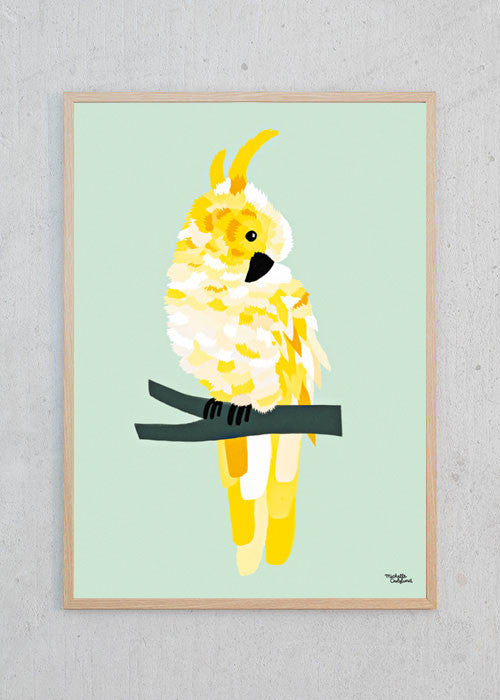 Yellow Cockatoo fra Michelle Carlslund