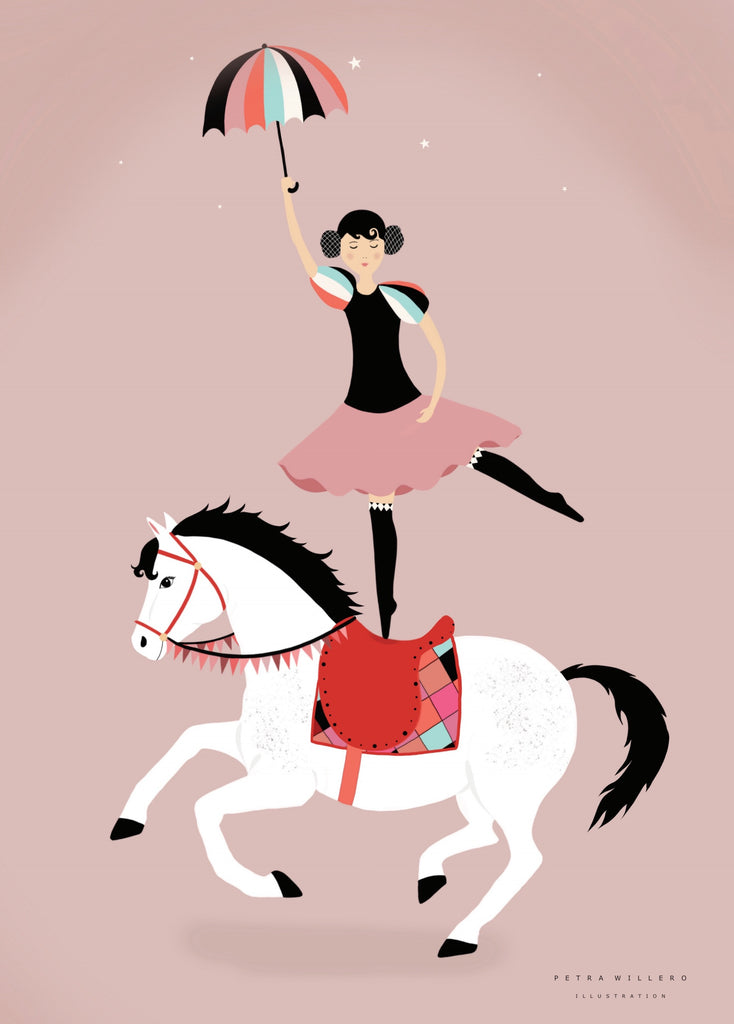 Circus ballerina fra Petra Willero Illustration