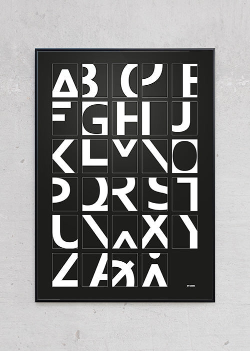 Alphabet - Black fra By Krohn