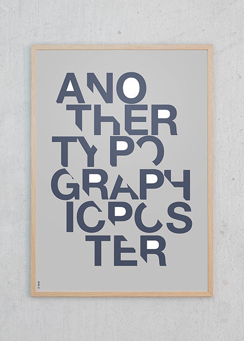 Another Typographic Poster - Blue fra By Krohn