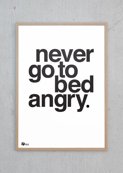 Never Go To Bed Angry - S/H fra By Krohn