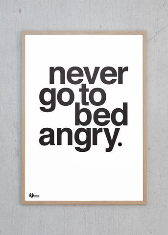 Never Go To Bed Angry - S/H