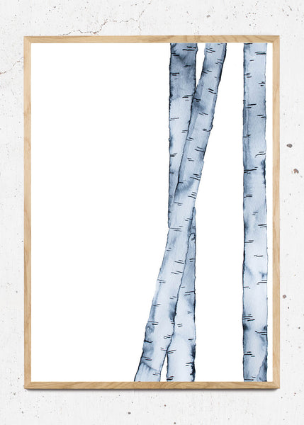 Birch Blue fra Trine Holbaek Designs