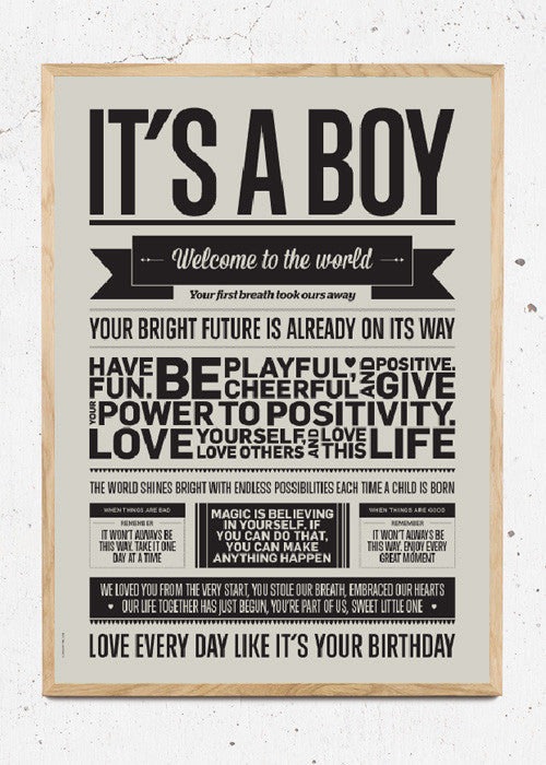 It's a Boy - Warm Grey fra I Love My Type