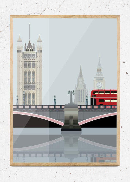Lambeth Bridge & Towers of Westminster fra Sivellink