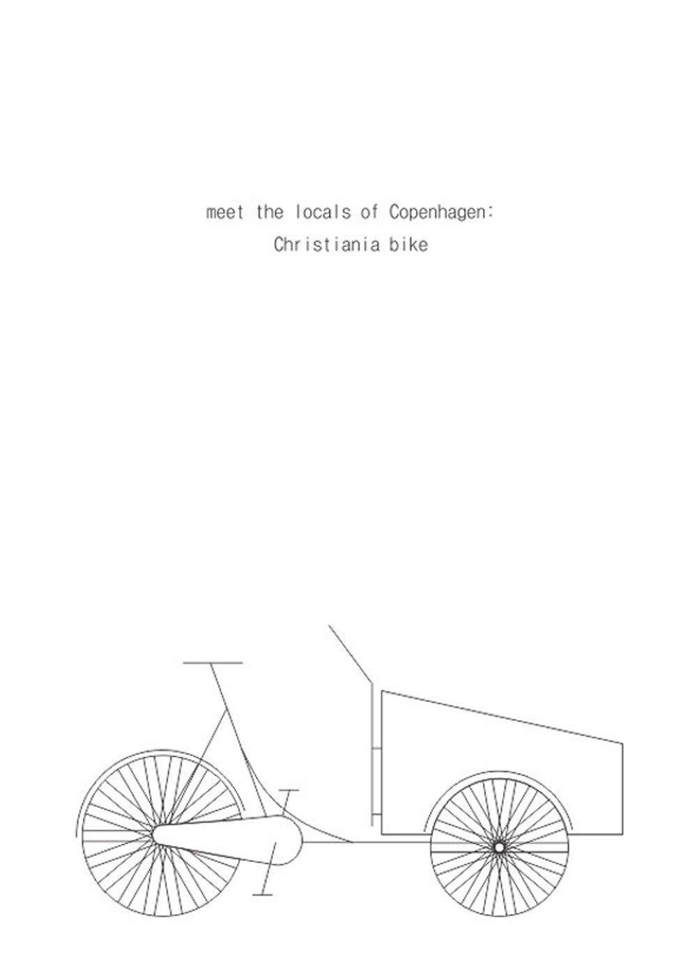 Christiania Bike - White fra Hamide Design Studio
