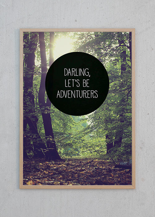 Plakat af Darling, let's be adventures fra Away From The City