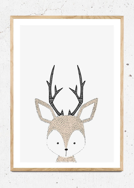 Deer - Plakat fra Paper Stories