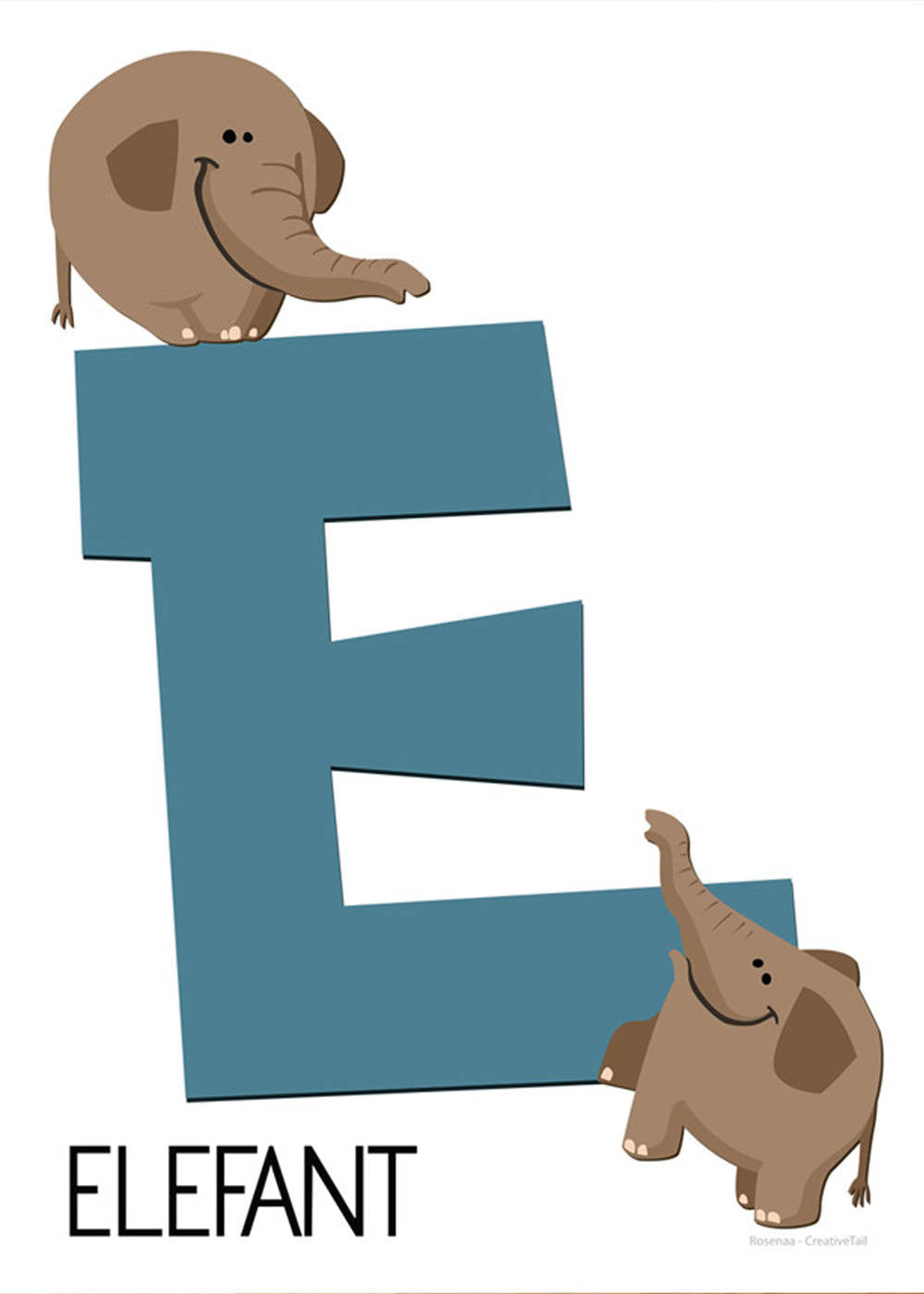 E for Elefant fra Rosenaa