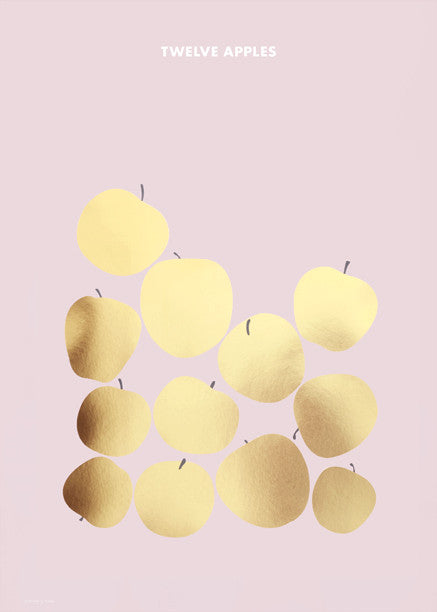 Twelve Apples — Gold Foil fra Friday & Today