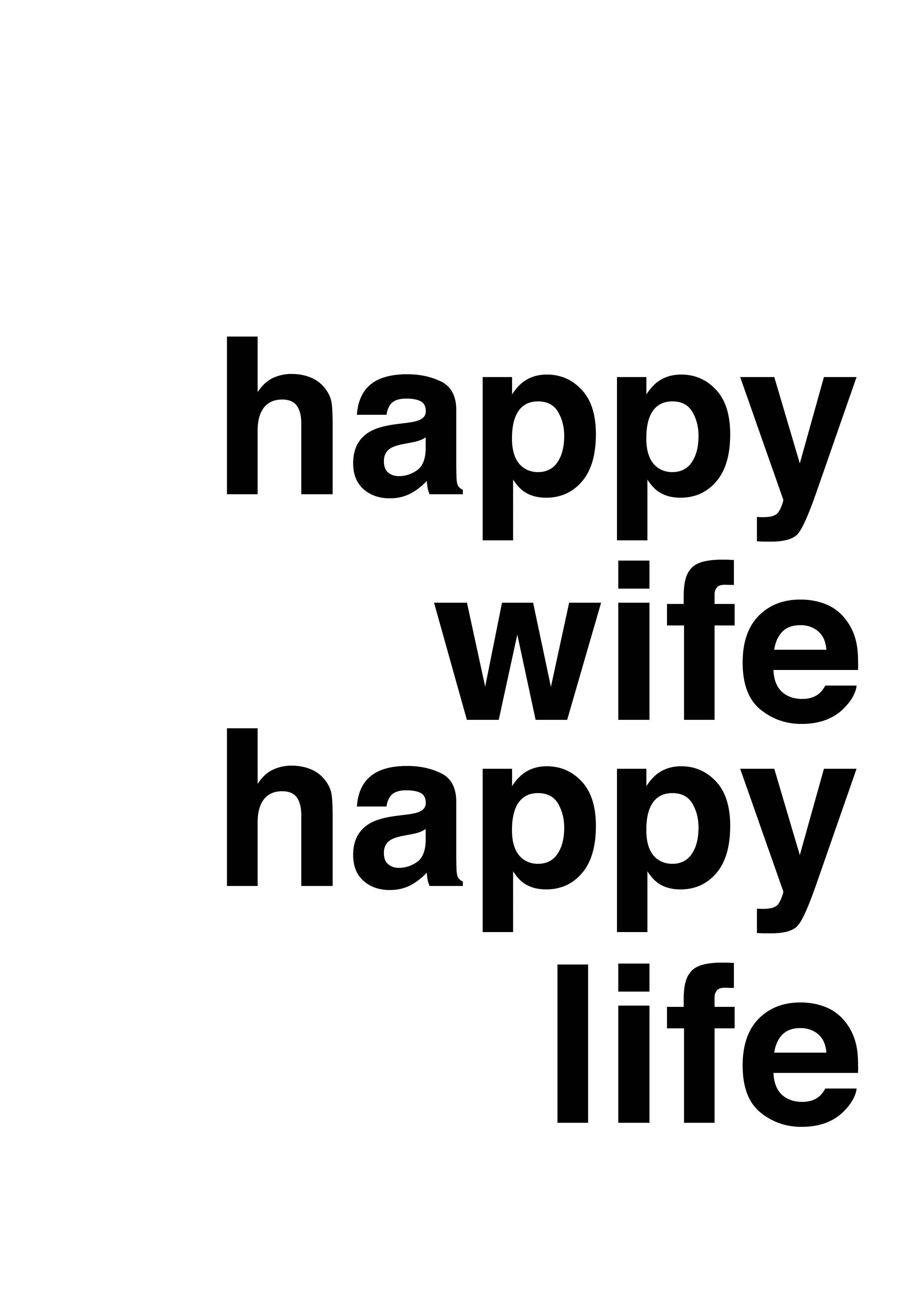 Happy Wife Happy Life, Hvid fra Paper Stories