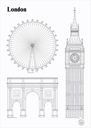 London Landmarks fra Studio Esinam