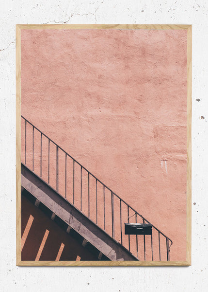 Pink Stairs fra Poster Pusher