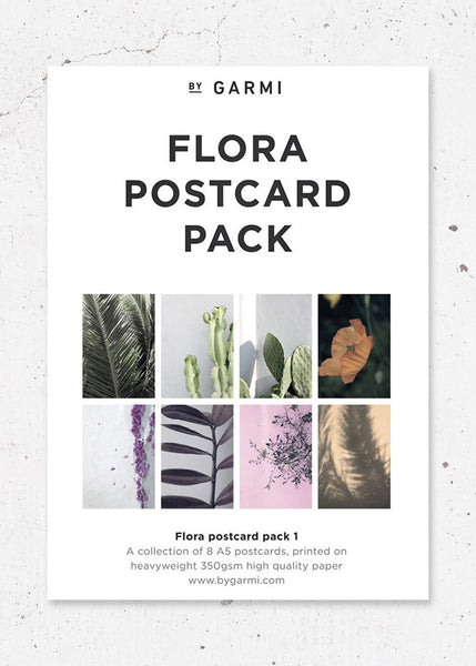 Flora Postcard Pack 1 fra By Garmi