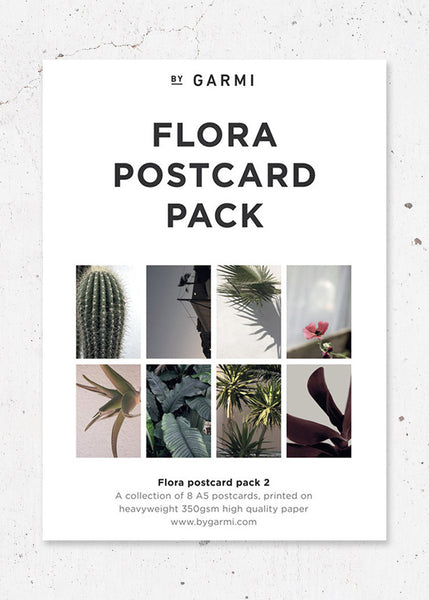 Flora Postcard Pack 2 fra By Garmi