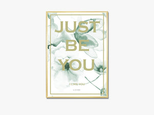 Just be you - green flower fra Livink