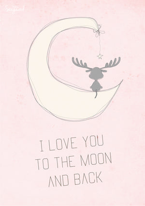 I love you to the moon, Rosa fra Made By Søegaard