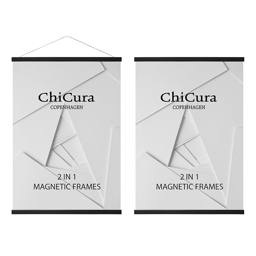 ChiCura 2 i 1 Magnetramme - Sort fra ChiCura