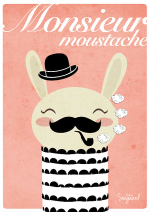 Monsieur Moustache fra Made By Søegaard
