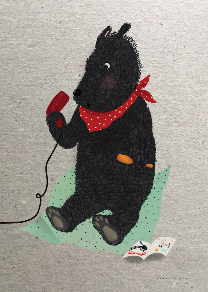 Blowdryer bear fra Petra Willero Illustration
