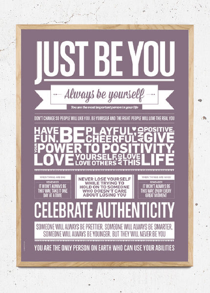 Just Be You - Violet fra I Love My Type