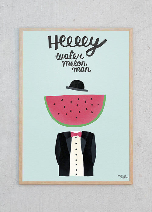 Water Melon Man fra Michelle Carlslund