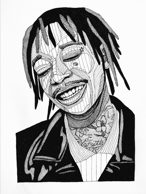 Wiz Khalifa fra Holm Illustrations