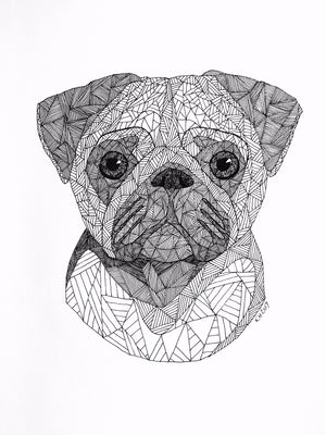 Pug fra Holm Illustrations