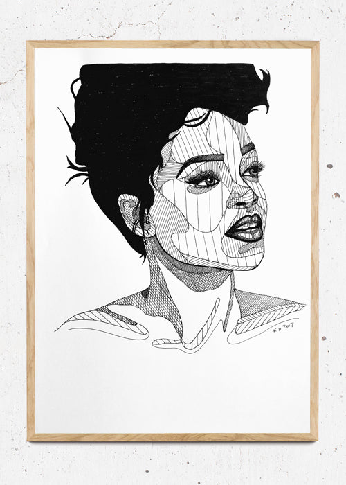 Rihanna fra Holm Illustrations
