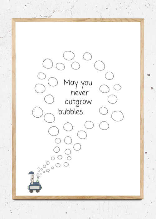May you never outgrow bubbles fra Happy Trails Studios