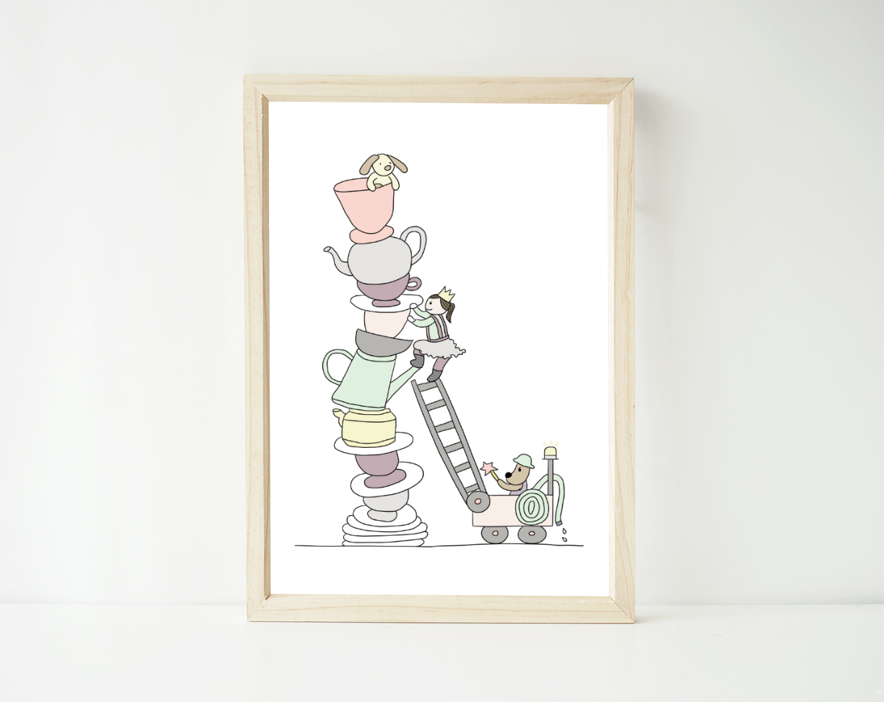 Teacup tower fra Happy Trails Studios