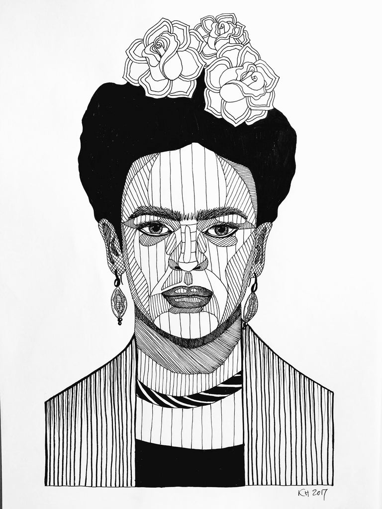 Frida Kahlo fra Holm Illustrations