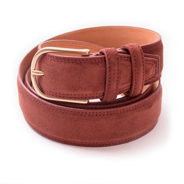 Hunter Suede Belt in Muscat
