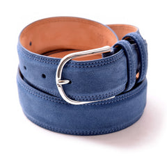 Hunter Suede Belt in Regatta