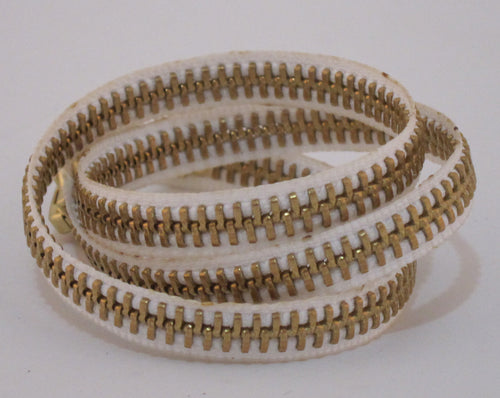 Zipper Bracelet White